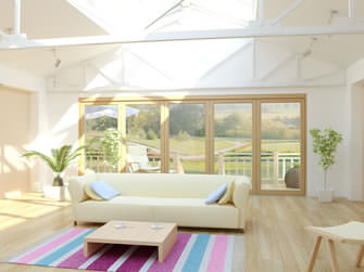 5 Panel external bi-fold doors opening into garden
